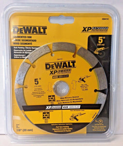 "Dewalt DW4741 5"" x .250 XP Segmented Rim Diamond Tuck Point Blade 7/8"" Arbor"