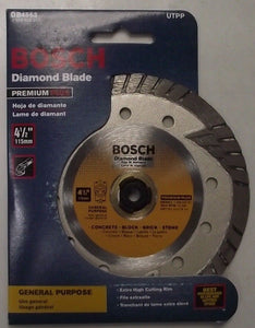 "Bosch DB4563 4-1/2"" Dry Cutting Continuous Rim Diamond Saw Blade For Masonry"