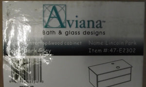Aviana 47-E2302 Lincoln Park Euro Vanity With Glass Top No Sink