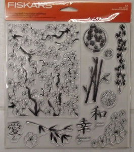 Fiskars 01-005548 Clear Asian Inspired Stamps