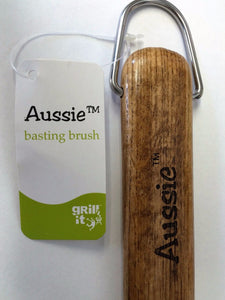 "Aussie 009-06-0163 18"" Basting Brush with Wood Handle"