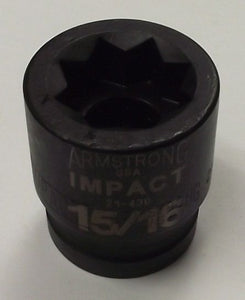 Armstrong 21-430 3/4in. Drive 8 Point Standard Impact Socket - 15/16in.