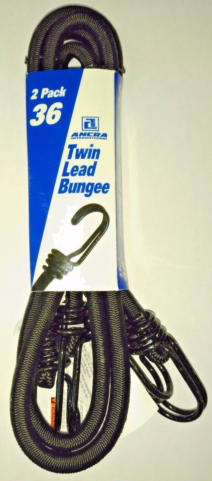 Ancra 95739 Twin Lead Bungee Cords, Black 2-Pack 36-Inch