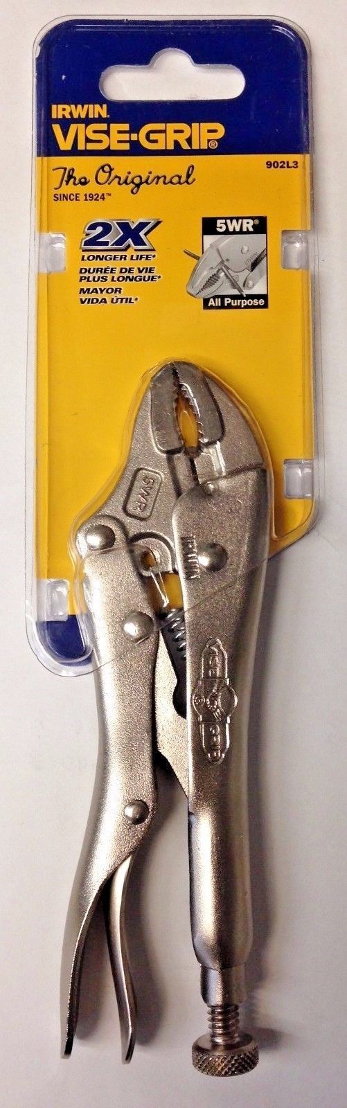 Irwin Vise-Grip 5WR All Purpose Locking Pliers 902L3 Carded