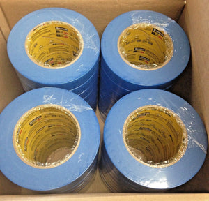 "3M Scotch 2750 1"" Blue Paint Masking Tape 24mm x 55m - Case of 36 Rolls Canada"