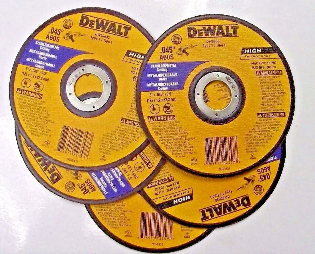 Dewalt DW8063S Stainless & Metal Thin Cutoff Wheels 5