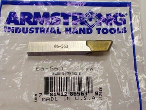 Armstrong Tools 86-563 Ground-to-form Tool Bit Cutter USA
