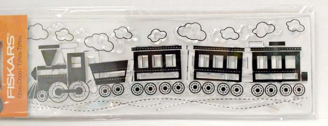 Fiskars 01-005699 Clear Stamp Choo Choo Type