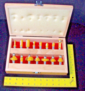 "Carb Tech AV88K 1/2"" Shank Carbide 15 Piece Router Bit Set"