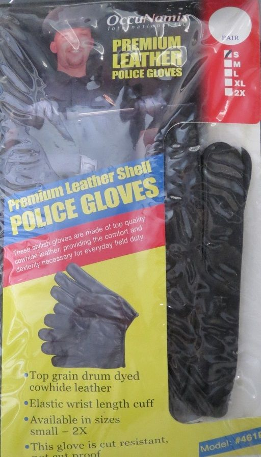Occunomix OCX-461P Safety Premium Leather Police & Security Pair Of Gloves Small