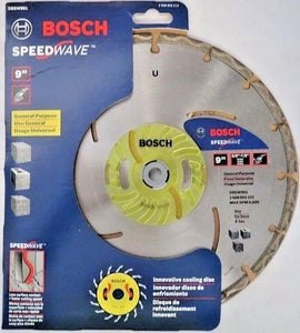 "Bosch DBSW961 Speedwave 9"" Segmented Diamond Blade Switzerland"