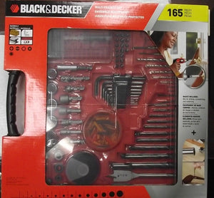 Black Decker 71-165 165pc Multi Project Set Drilling & Driving