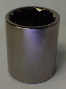 "Allen 11315 15mm Metric 3/8"" Drive 12 Point Socket USA"