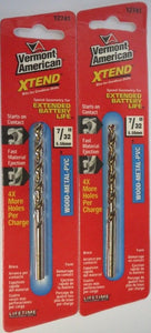 "Vermont American 12741 7/32"" Xtend Drill Bit 2 Packs"