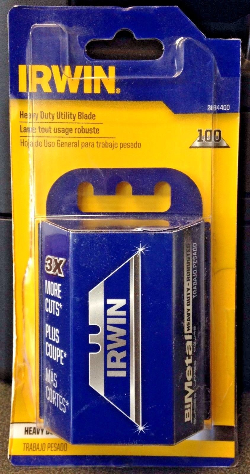 Irwin 2084400 Bi-Metal  Heavy Duty Utility Blade 100 Pack Mexico