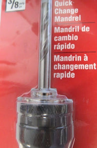 Vermont American 18613 3/8 Quick Change Holesaw Mandrel