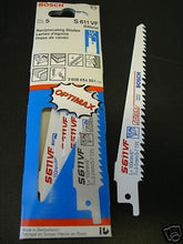 "Bosch S611VF 6"" x 5/7 TPI Bi-Metal Reciprocating Saw Blades 5 Pack Switzerland"