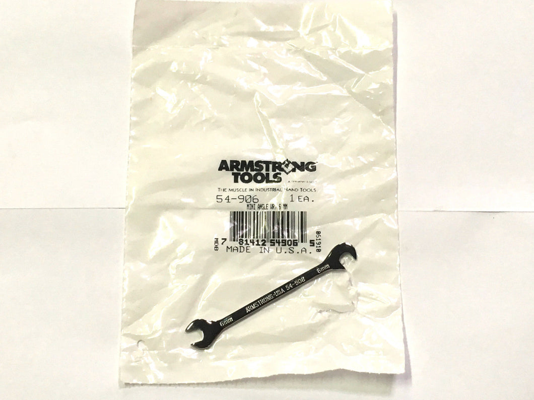 Armstrong 54-906 6mm Mini Angle Combination Wrench Open End Fully Polished USA