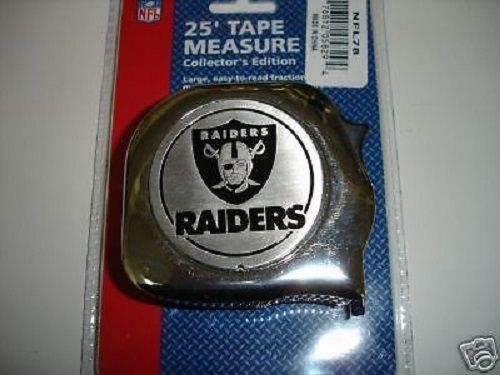 Great Neck NFL78 1' x 25' NFL Tape Measure Oakland Raiders