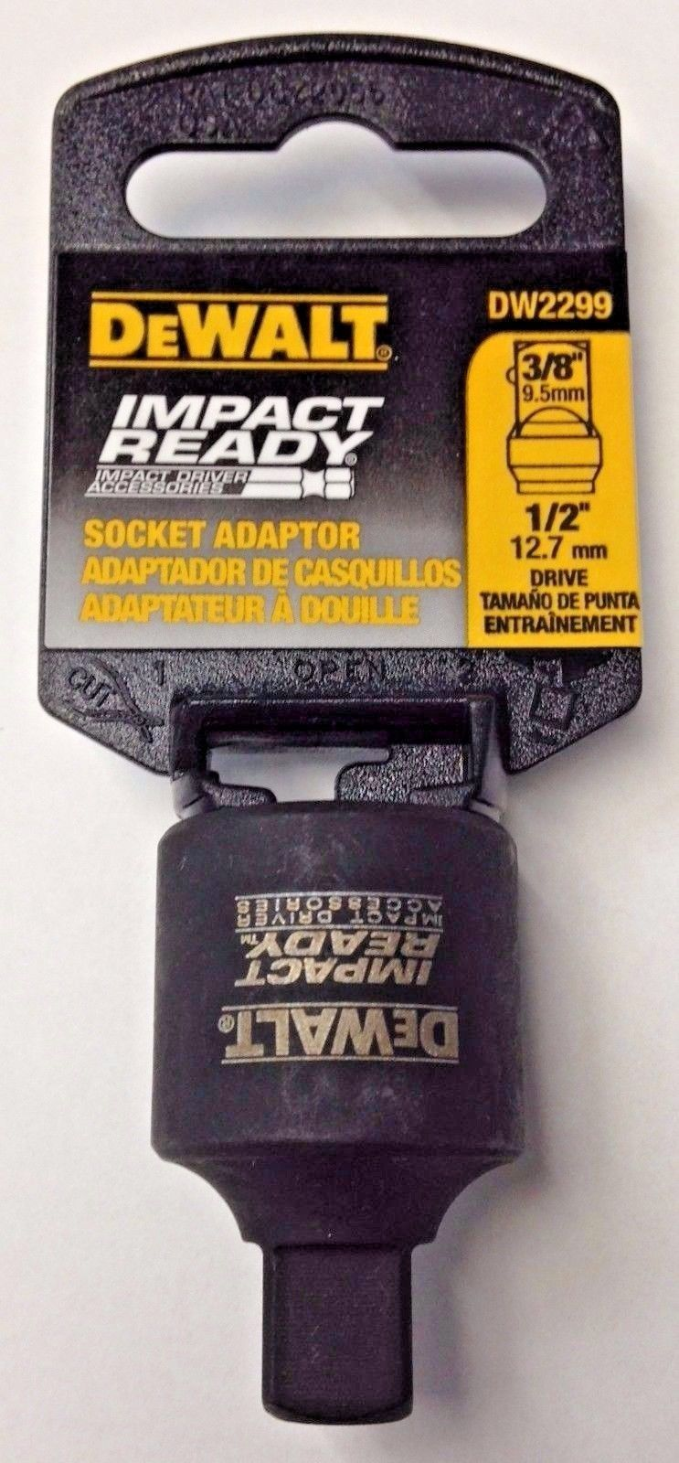 DeWalt DW2299 Impact Ready Socket Adapter 1/2