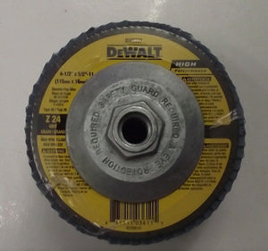 "Dewalt DW8337 4-1/2"" x 5/8-11 Zirconia Flap Wheels Z24 Grit 5pcs"