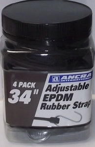 "Ancra 95773 Adjustable EPDM Rubber Strap 34"" Length 4 Pack"