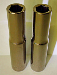 "Armstrong 10-208A 1/4"" Drive 6 Point Deep Socket 1/4"" USA 2PCS"