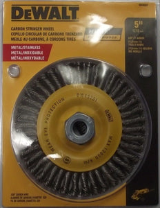 "DEWALT DW49201 5"" x 5/8""-11 High Performance .020 Carbon Stringer Wire Wheel"