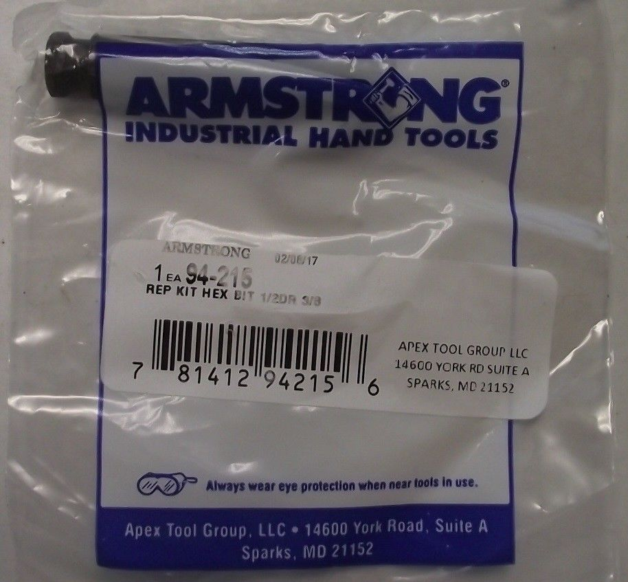 Armstrong 94-215 Replacement Hex Bit 1/2