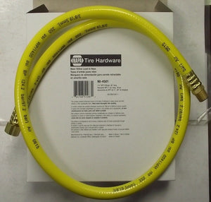 "Napa 90-4501 36"" Neon Yellow Lead In Hose 3/8"" With 1/4"" NPT End"