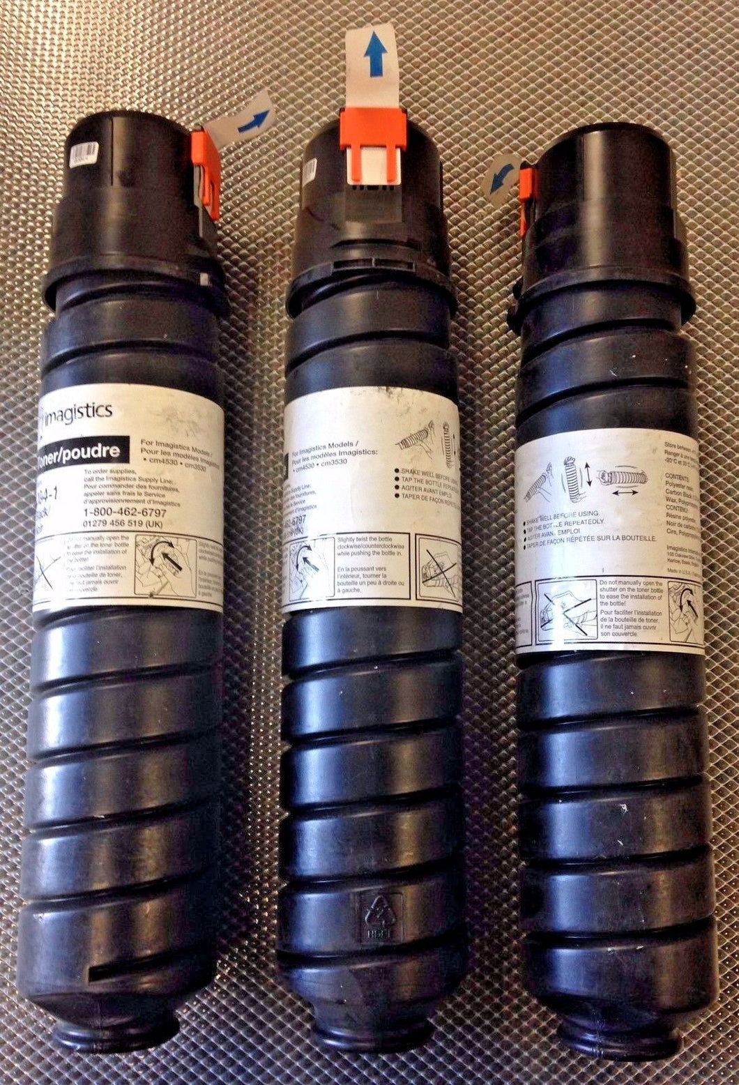 (3) Oce / Imagistics Genuine 494-1 Black Toner Cartridges For CM3530 & CM4530