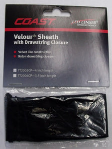 "Coast TT2005CP 4"" Velour Sheath Pouch  W/ Drawstring Closure"