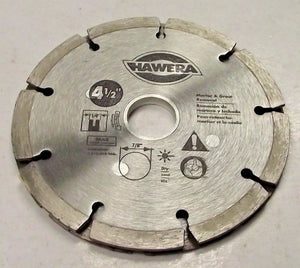 "Hawera HWD4510B 4 1/2"" Sand Tip Diamond Saw Blade For Mortar & Grout Removal"
