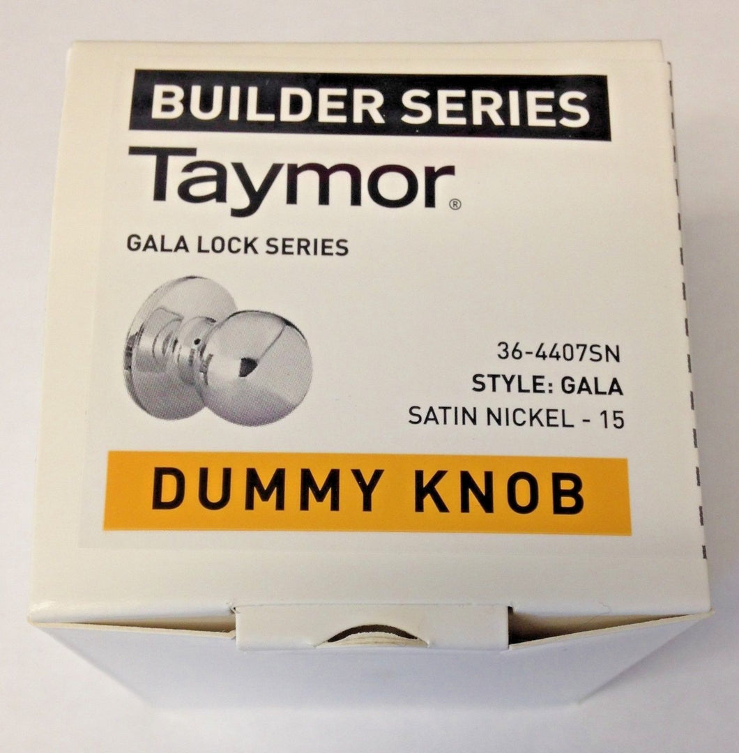 Taymor 36-4407SN Dummy Knob Door Handle Satin Nickel Builder Series