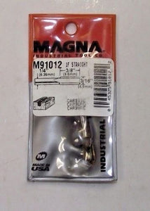 "Magna M91012 3/16"" Solid Carbide Straight Router Bit 1/4"" Shank USA Single Flute"