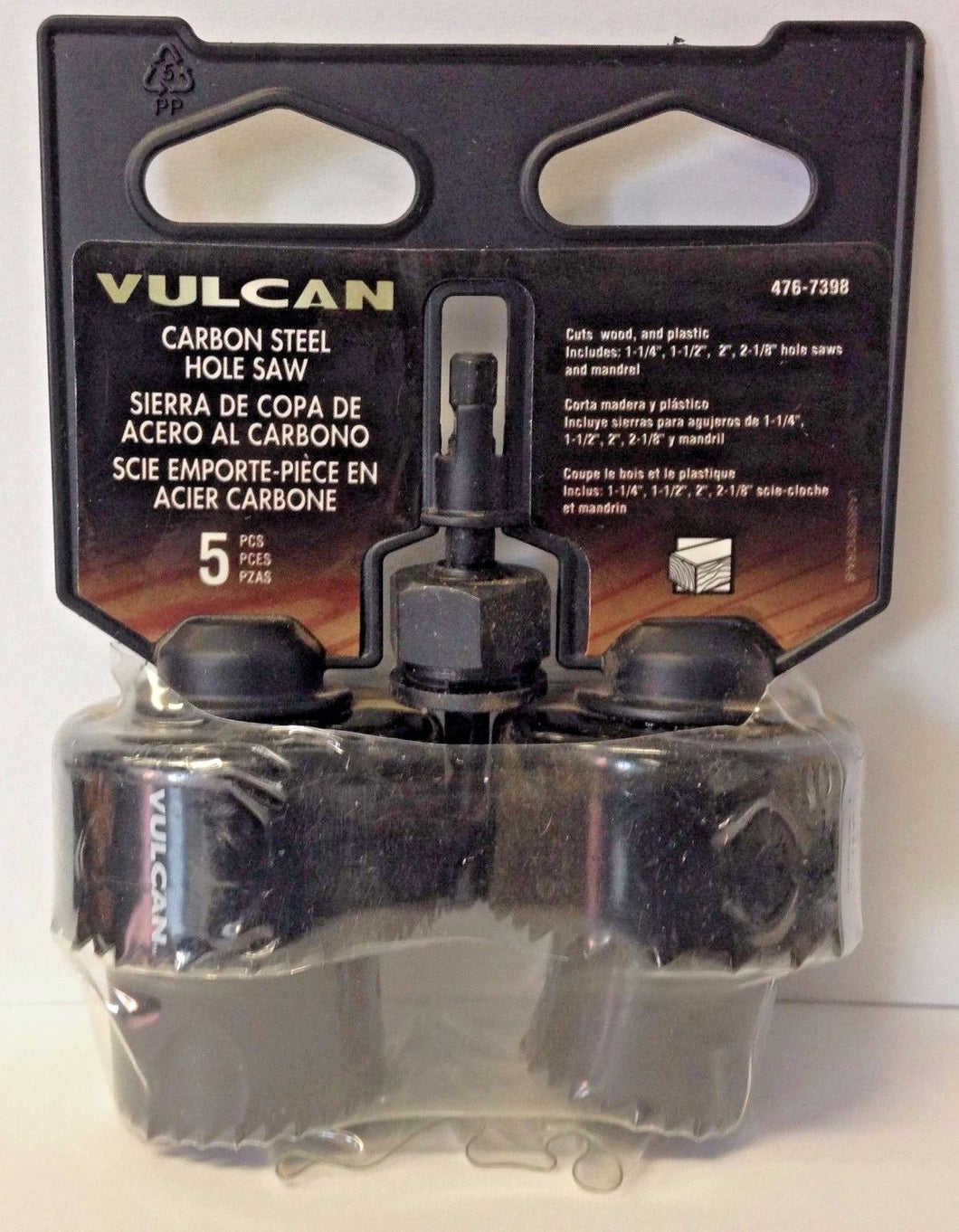Vulcan 988091OR 5 Piece Hole Saw Set 1-1/4