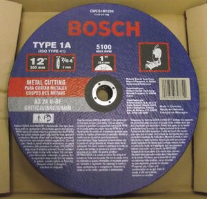 "Bosch 12"" x 7/64"" Metal Cutoff Blade AS 24 CWCS1M1200 Germany 10 Pack"