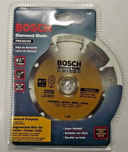 "Bosch Db4541 Segmented Diamond Blade Premium 4-1/2"" Segmented Laser Welded"