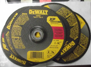 "DEWALT DW8832 9"" x 1/4"" x 7/8"" XP Metal Stainless Grinding Wheel 5pcs."