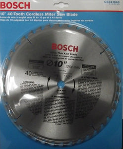 "Bosch CBCL1040 10"" x 40 Tooth ATB Ultra Thin Kerf General Purpose Saw Blade"