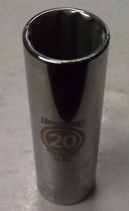 "Armstrong 39-320 20mm 12 Point 1/2"" Drive Metric Deep Socket USA"