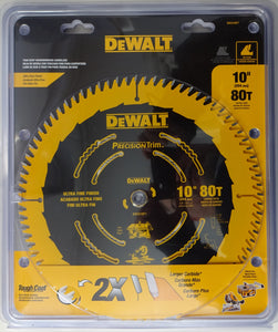 "Dewalt DW3218PT 10"" 80 Teeth Thin Kerf Woodworking Sawblade"