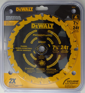 "DEWALT DW3199 7-1/4"" x 24T Carbide Tooth Precision Saw Blade"