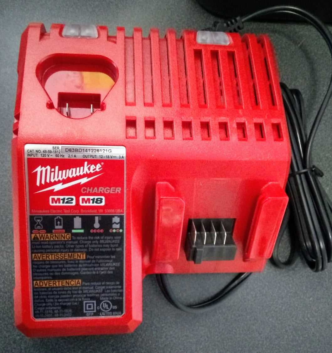 Milwaukee 48-59-1812 M12 M18 Battery Charging Station - Temp.