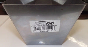 "Finishpro 5-214 12"" Stainless Steel Mud Pan Folded Seams"