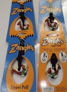 Zangles Pony Zipper Pulls  4pcs Great For Luggage Or Backpacks
