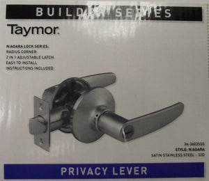 Taymor 36-3603SSS Privacy Lever Door Handle Satin Stainless Steel Builder Series