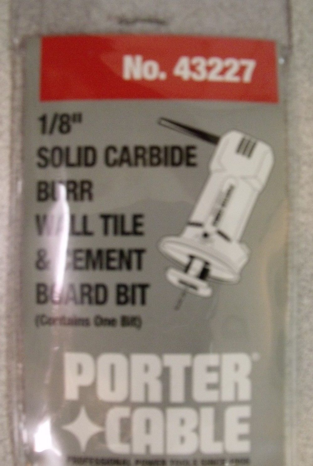 Porter Cable 43227 Carbide Wall Tile Drywall Cement Board Bit