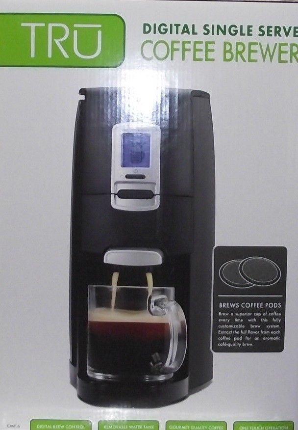 TRU DIGITAL Single Serve POD Coffee Brewer Adjustable Cafe Quality CMP-6 NEW