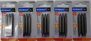Kobalt 3-Piece Double-Ended Driver Bit Set 0459105 1873535 5Packs